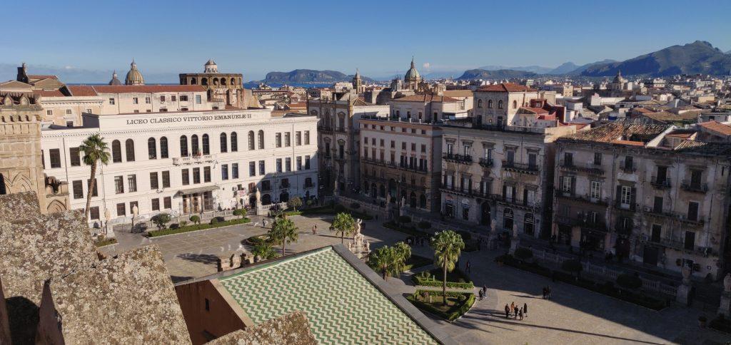 Vista dai tetti della Cattedrale di Palermo